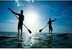 Staigā pa ūdeni! Airēšana stāvus uz dēļa 2personām Tarkai