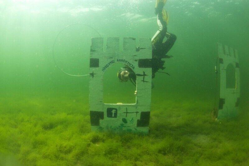 Ziņkārīga niršana ar zem ūdens fotosesiju Plateliai ezerā