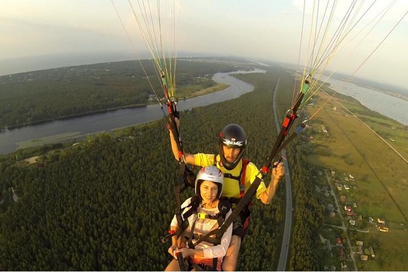 Iepazīšanās lidojums ar paraplānu tandēmā 400-500 metru augstumā