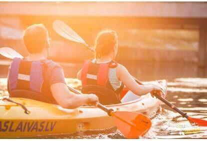 Поездка на лодке по Рижским водам