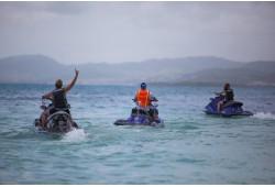 Brauciens ar ūdens motociklu Sekļa ezerā (15 min.)