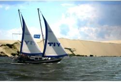 """Kelionė dviem jachta """"Montė"""" prie didžiosios kopos"""