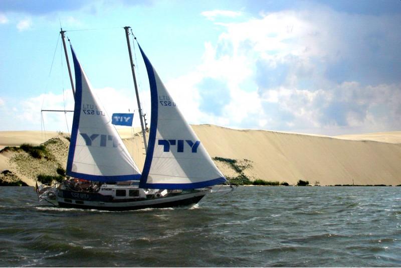 """Путешествие к Большой дюне на яхте """"Montė""""  для двоих"""