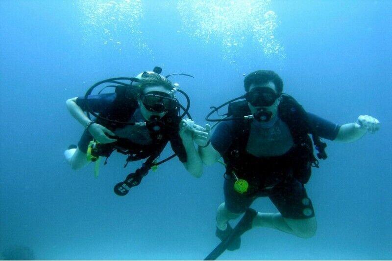 Iepazīšanās daivings ar zemūdens fotosesiju divām personām