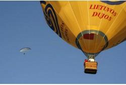 Skrydis oro balionu Alytuje