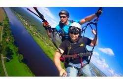 Paraplāna lidojums tandēmā ar instruktoru Daugavpilī