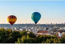 Romantiškas skrydis oro balionu Vilniuje
