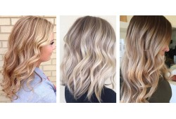 Двухтоновая окраска волос в технику Омбре + стрижка