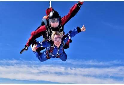 Тандем прыжок с парашютом с инструктором в Шяуляй