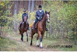 Vizināšanās divatā ar zirgu Ādažos