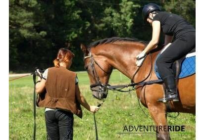 Прогулка на лошади для детей в Адажи