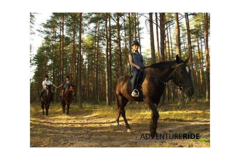 Izzinošs burziņš pie zirgiem Ādažos