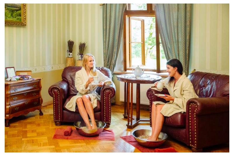 """Romantiska nakšņošana ar SPA priekiem """"Kafijas un piena tango"""" Dikļu pilī"""