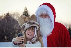 """Ziemassvētku pārsteigums bērniem - izjāde ar zirgu un Ziemassvētku vecīša apsveikums """"Agatēs"""" Katlkalnā"""