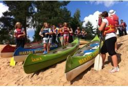 Vienas dienas brauciens ar kanoe vai kajaku