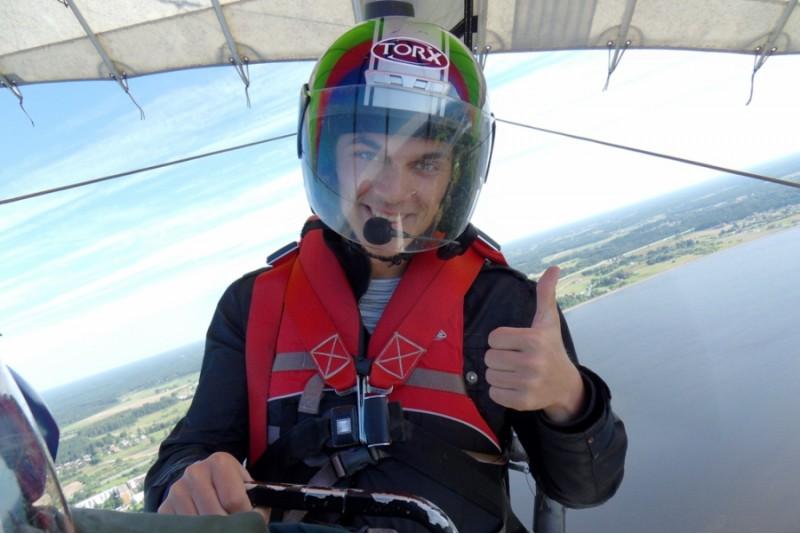 Aizraujošs lidojums ar deltaplānu virs Rīgas