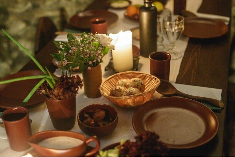 Ужин монаха для двоих персон в замке Яунпилс