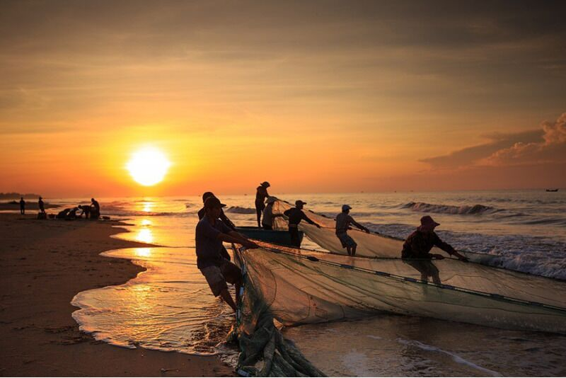 Zvejošana ar tīkliem Tallinas līcī