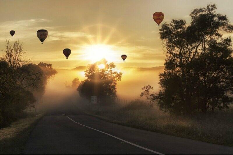 Aizraujošs lidojums ar gaisa balonu Dobelē