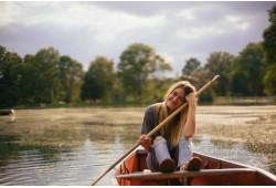 Romantisks izbrauciens ar airu laivu Ķīšezerā