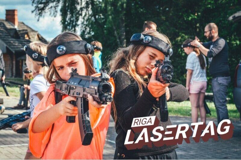 Захватывающие открытое мероприятие лазертаг в Риге