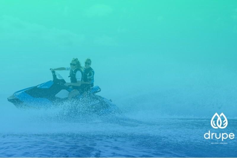 Elpu aizraujošs izbrauciens ar ūdens motociklu Ķīšezerā - Mežparkā