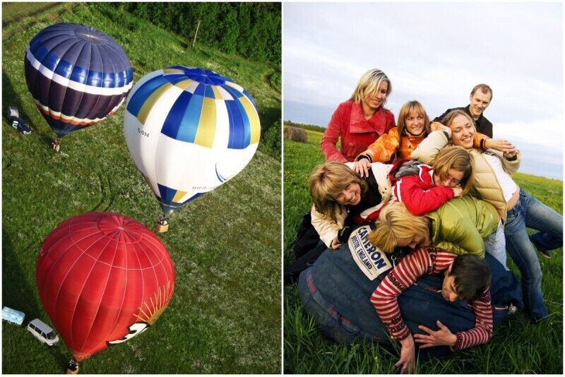 "Lidojums ar gaisa balonu Jelgavā no ""Gaisabaloni.lv"""
