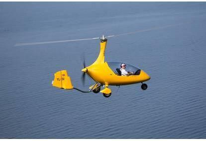 Захватывающий полет на автожире Calidus от аэродрома Адажи