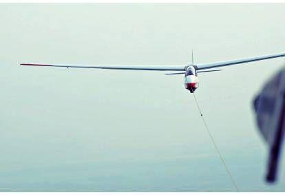 Полет на планере над городом Биржай