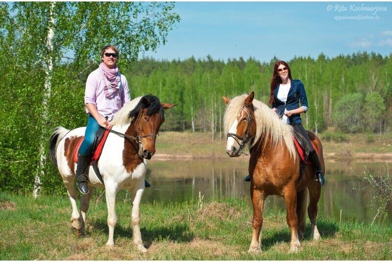 """Верховая езда для двоих в парке """"Daugavas loki"""""""