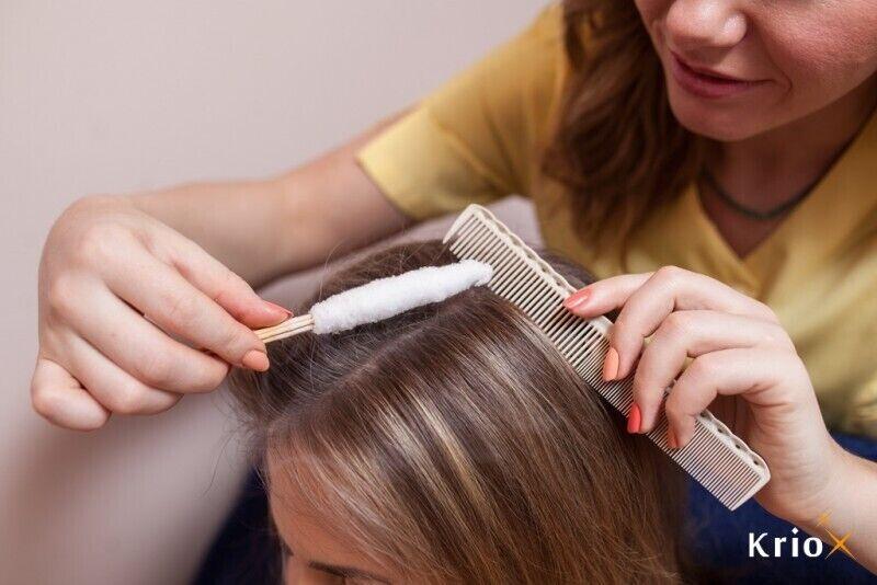 Крио процедура для сильных и пышных волос в Риге