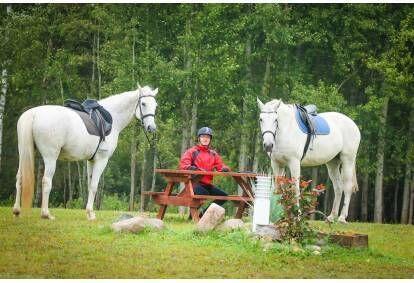 Pirmā izjāde ar zirgu divām personām + apmācība